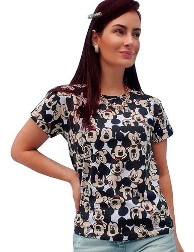 Atacado 10 T-shirt Blusinha Moda Feminina Personagens Mickey Original