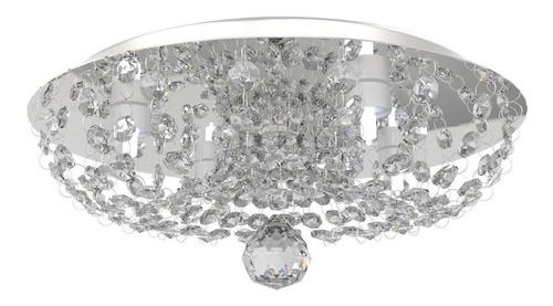Plafon Lustre Cristal 30cm Sala Quarto Hall C/lâmp Led 952 Original