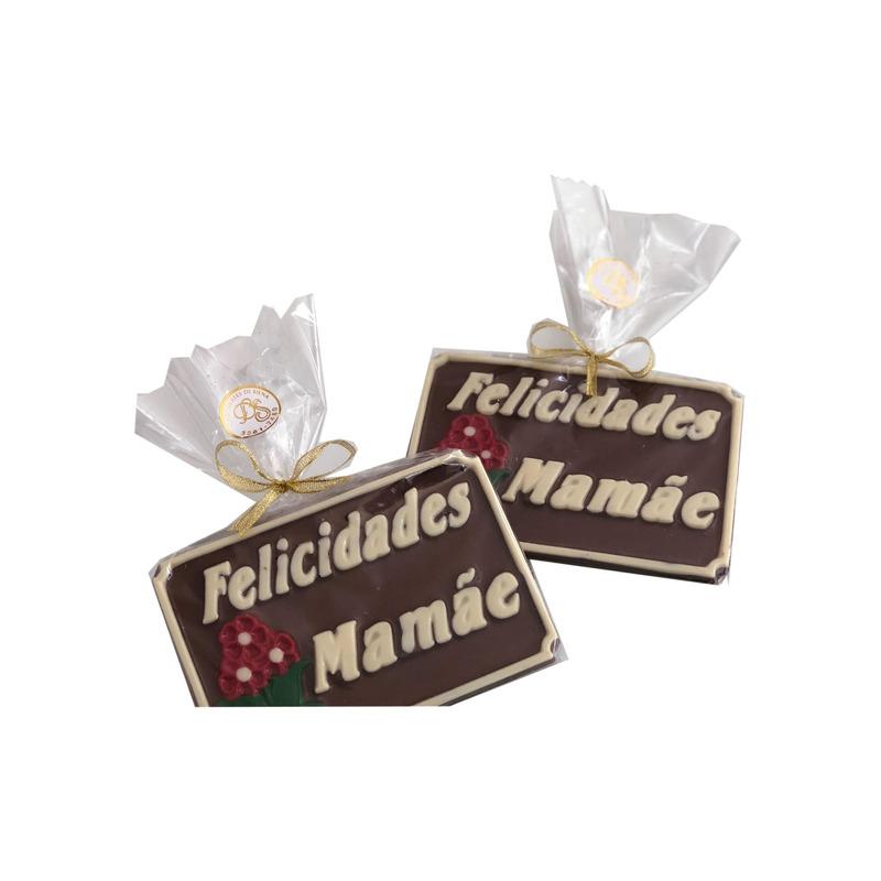 Placa de chocolate Ao Leite Felicidades Mamãe 80g