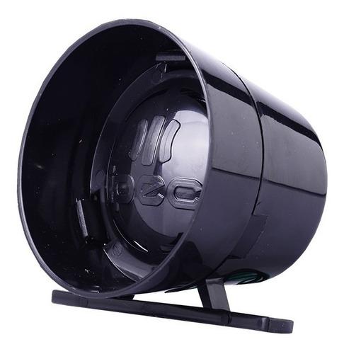 Sirene Para Alarme Cerca Elétrica 1 Som Preta Super Potente Original