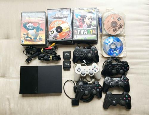 Playstation 2 Slim Desbloqueado Scph-90010 * Leia O Anuncio Original