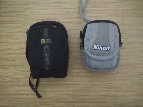 Máquinas (2) Fotográficas Câmeras Nikon & Olympus, Leia Original