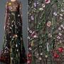 Bordado Floral Renda Tecido De Malha Vestido De Noiva Véu De