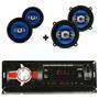 Kit Alto Falante 5 E 6 Pol Rádio Mp3 Player Usb Bluetooth