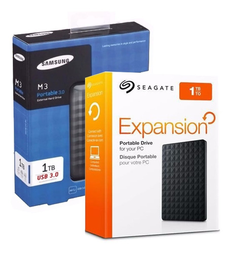 Hd Externo Portátil Seagate Samsung 1tb Usb 3 Top Ps4 Original