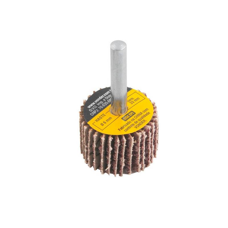 Roda de Lixa 30mm x 20mm com Haste Grão 36 Vonder