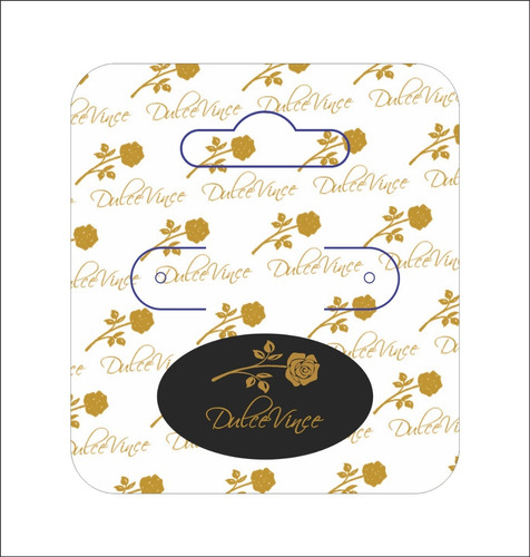 500 Tag Biju Bijouterias 4,2x4,7cm Tonsecores Original