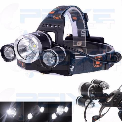 Lanterna Cabeça Triplo T6 Led Cree Profissional Swat Tatica Original