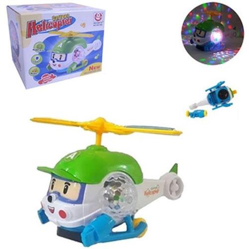 Helicóptero Avião Brinquedo Musical Bate/volta C/luzes 22cm Original