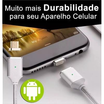 Cabo Carregador Celular Tablet Magnético Android Micro Usb
