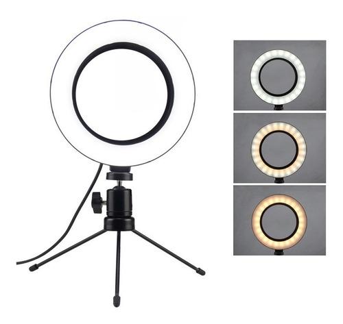 Ring Light Led Mesa Iluminador Pequena Tripé 6 Polegada 16cm Original