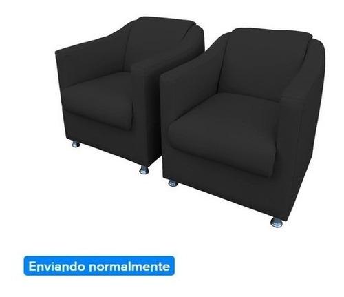 Kit 2 Poltrona Cadeira Tilla Para Salão Beleza Corino Suede Original
