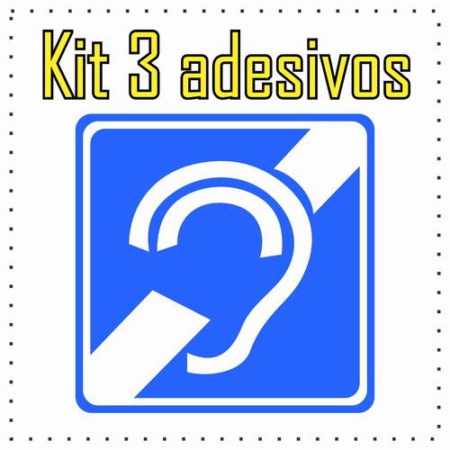 Armario Joyero De Pie ~ Comprar Kit 3 Adesivos Deficiente Auditivo Interno Ou Externo 5 X 5 Apenas R$ 4,99 Aprender