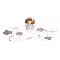 Pingente De Cortina Menina Lilás (Par)