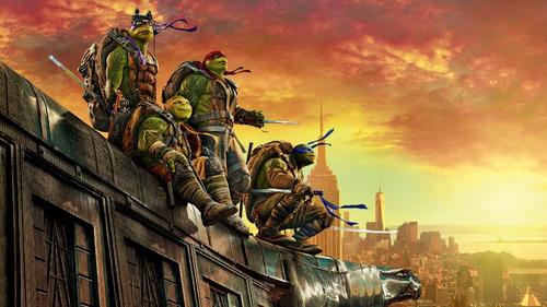 Painel  Poster Festa Decoração Tartarugas Ninjas 90x60 Original