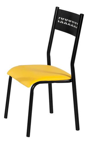 Conjunto Com 4 Cadeiras Titanium Turim Aço Original