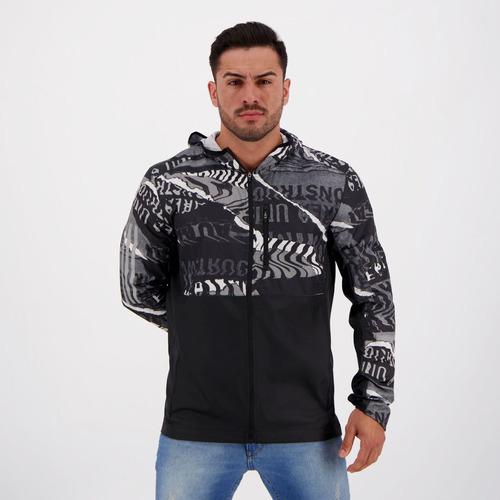 Jaqueta adidas Own The Run Estampada Preta Original