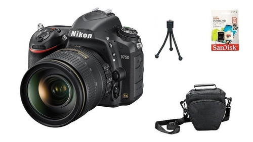Nikon D750 + 24-120mm + 32gb + Bolsa + Tripé Garantia Sjuros Original