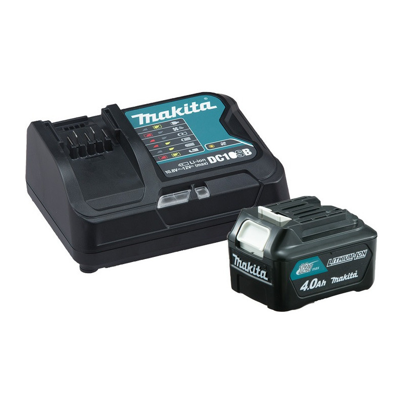 """Kit Parafusadeira e Furadeira a Bateria 12V 10mm (3/8"""") - DF031DSME - Makita - Bivolt"""
