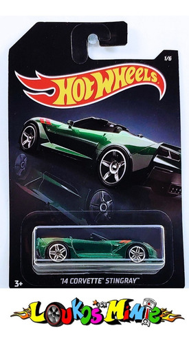 Hot Wheels ´14 Corvette Stingray Exotics 1/6 Lacrado Original
