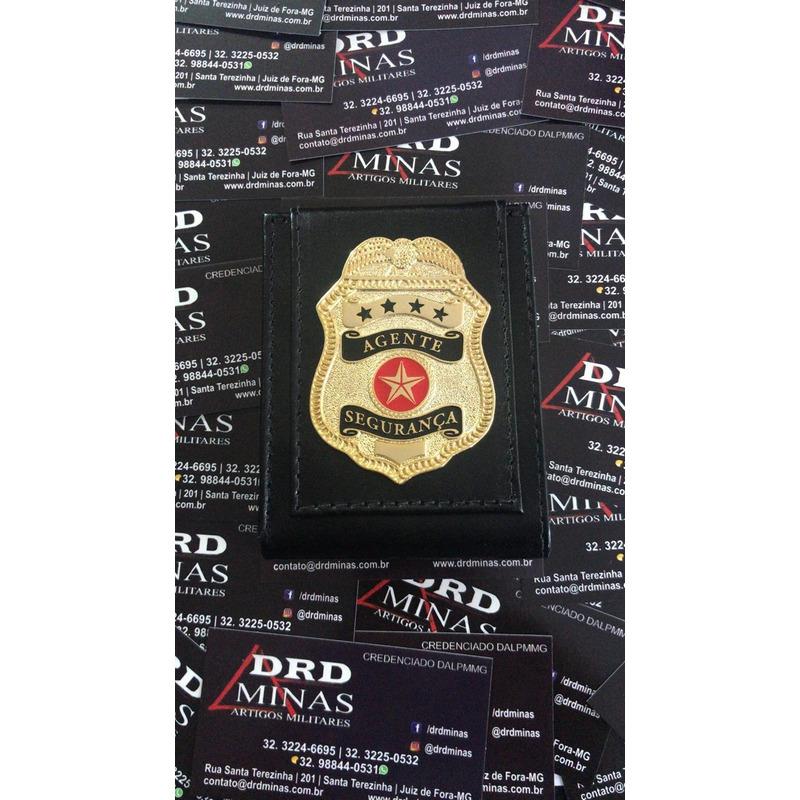 Carteira Agente de Segurança - Couro