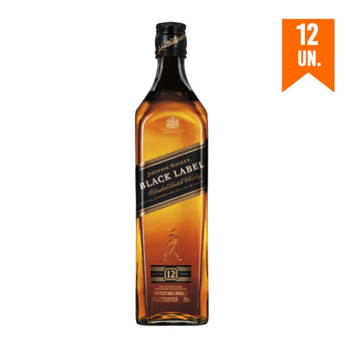 Combo Black Label 12 Uni - 12 Jw Black Label 750ml 10% Off
