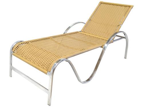 Cadeira Espreguiçadeira Alumínio E Fibra Sintética 1 Unidade