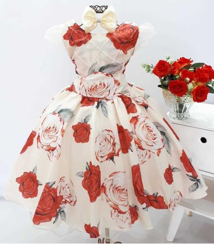 Vestido Infantil Festa Casamento Aniversario Formatura Tiara Original