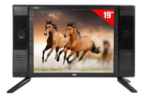 Tv Led 19 Bak Bk-1950 Hd Com Hdmi Usb + Conversor Digital Original