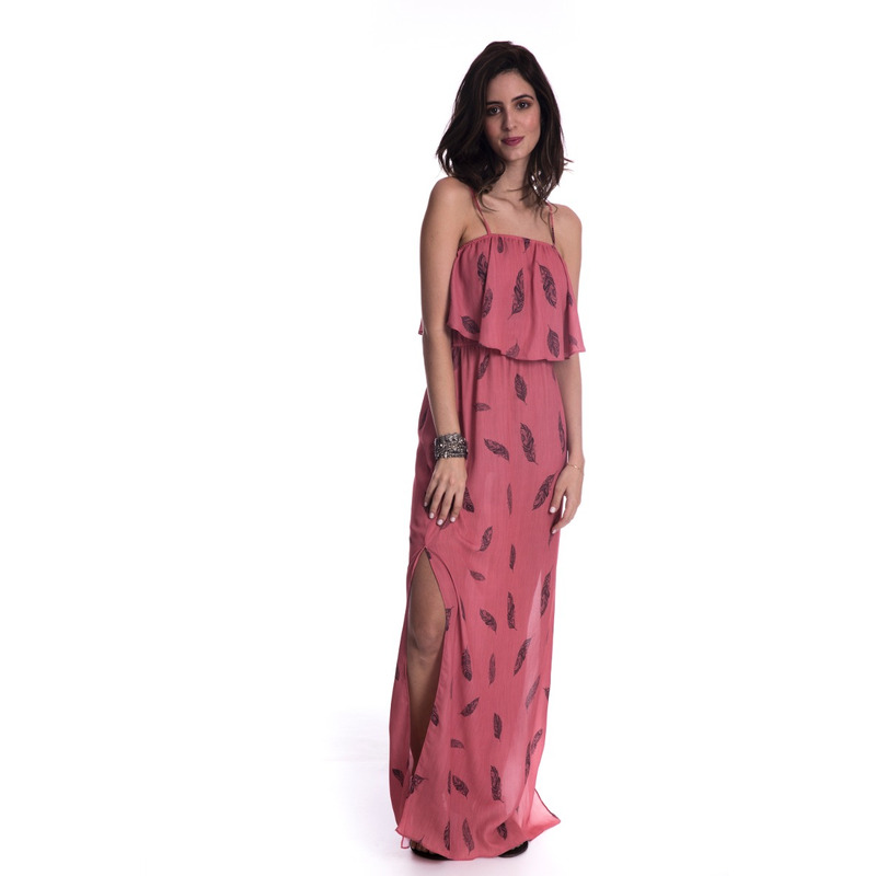 Vestido Longo Long Island Rosa