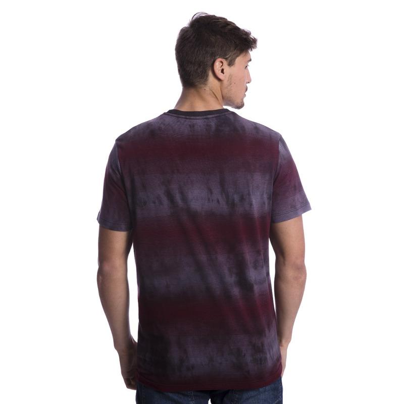 Camiseta Long Island Tie Dye Bordô