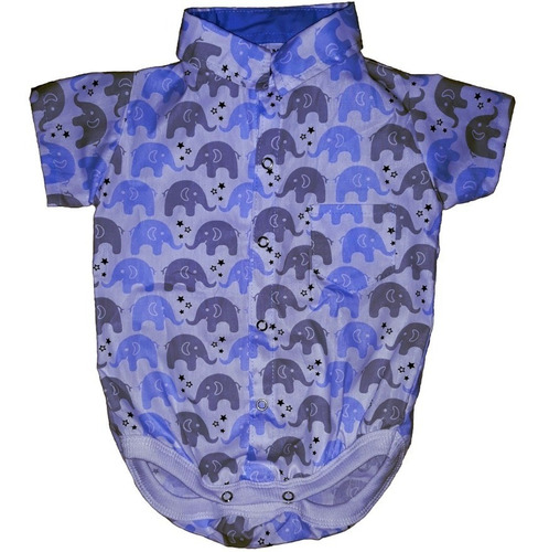 Body Bebe Menino Manga Curta Elefantinhos