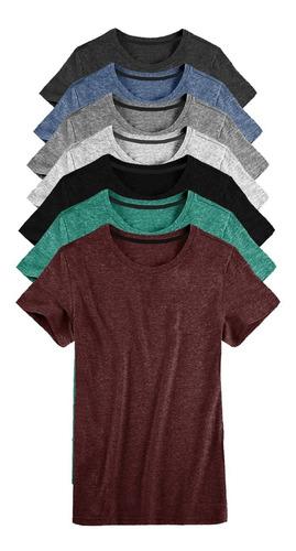 Kit 07 Camisetas Masculina Camisa Slim Fit Lisa Basic Basica Original