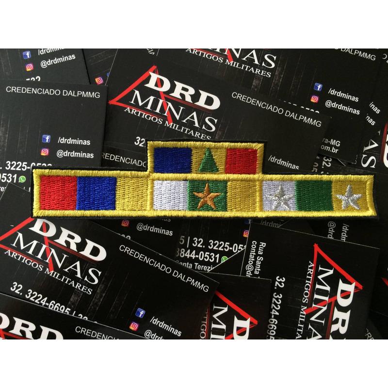 Medalha Bordada Militar -10/20 anos/Alferes/Merito