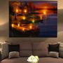 Arte De Parede Luminosa Paiting Led Iluminado Cabine Lago Su