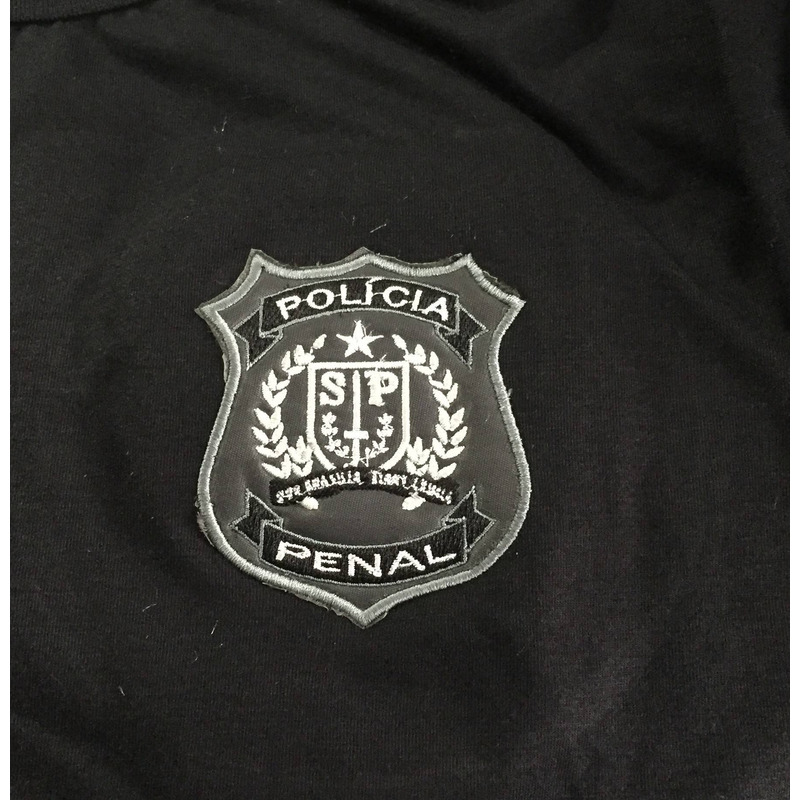 Camisa Polícia Penal - SAO PAULO - Modelo 8 - Preta  Bordada