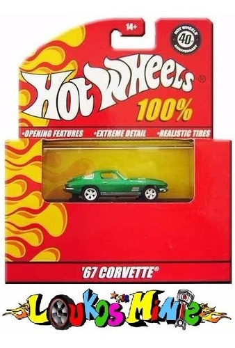 Hot Wheels 100% ´67 Corvette Lacrado 1:64 Borracha Original