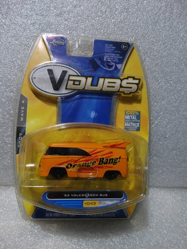 62 Volkswagen Bus Orange Bang Kombi Jada V Dubs 2007 1:64 Original