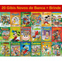 20 Gibi Hq Disney Turma Da Mônica Novo Lacrado Sem Repetição