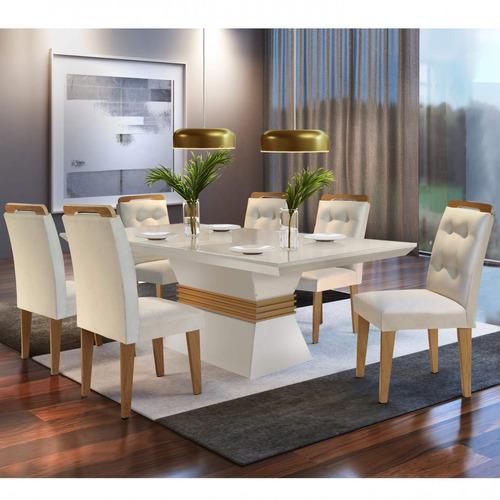 Conjunto Mesa De Jantar 6 Cadeiras Dream Espresso Bcwt Original
