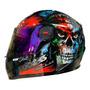 Capacete Moto Fechado Fw3 Gt Skull Caveira Brilha No Escuro