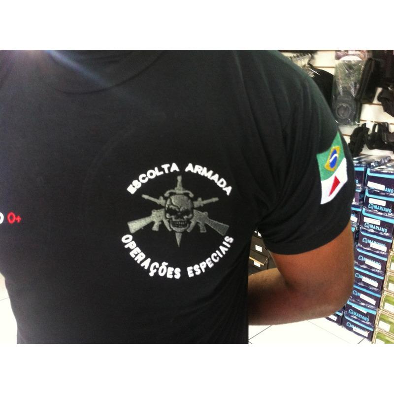 Camisa Seguranca II - Preta  Bordada