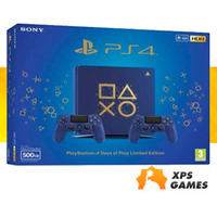 Sony Playstation 4 Slim 500gb Azul Days Of Plays, 2 controles + 10 Jogos p/ Download