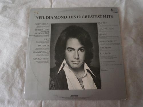 Lp Neil Diamond 1977 His 12 Greatest Hits, Disco De Vinil Original