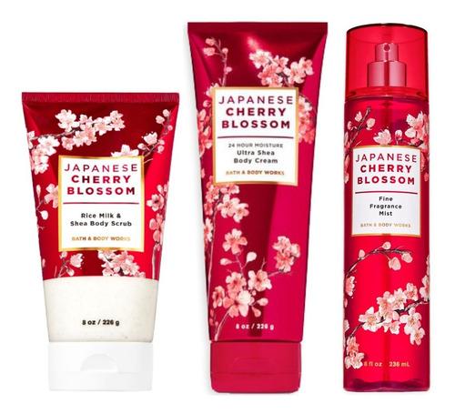Kit Bath And Body Works Japanese Cherry Blossom Body Scrub Original