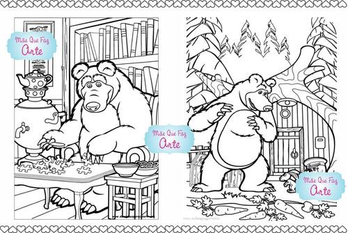15 Livros De Colorir Masha E O Urso R 42 En Melinterest