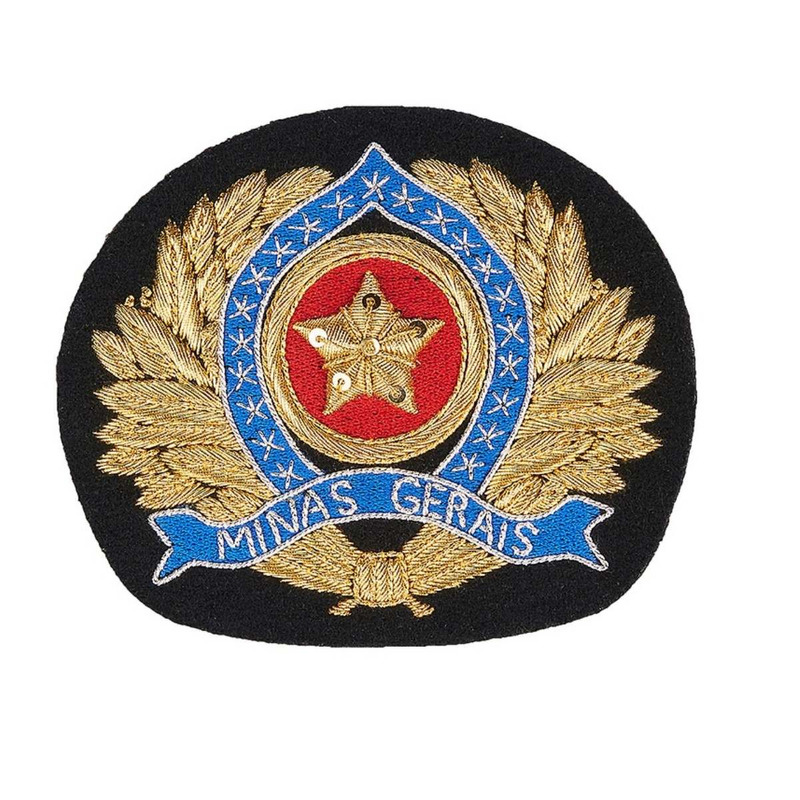 Florão bordado para Quepe Oficial - PMMG
