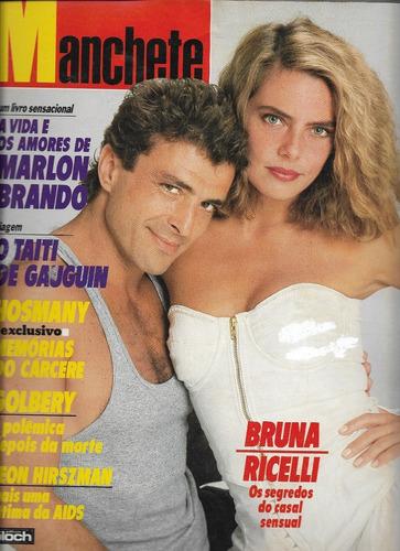 Revista Manchete 1850 - Marlon Brando,bruna Lombardi,xuxa Original