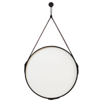 Espelho Adnet Bondi Oruy em Couro Legítimo 75cm