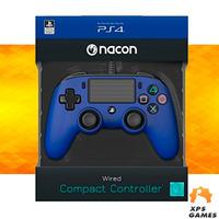 Controle Com Fio Compacto Nacon Azul- PS4
